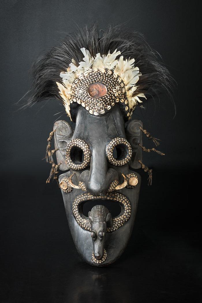 papua new guinea, mask, moesgaard museum, de etnografiske samlinger, ethnography, collections, museum, aarhus, denmark