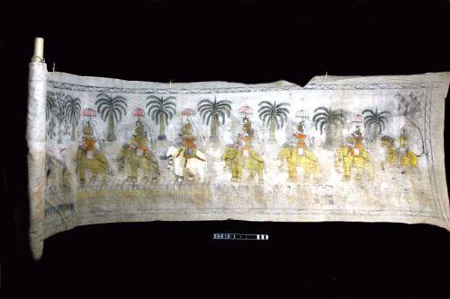 thailand, scroll, temple, moesgaard museum, de etnografiske samlinger, ethnography, collections, museum, aarhus, denmark