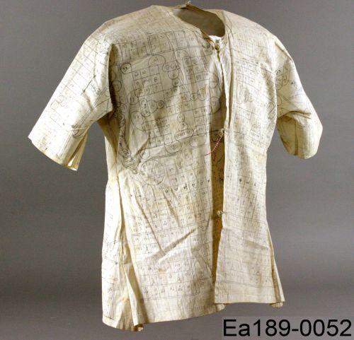 thailand, bulletproof vest, protection, magic, symbols, moesgaard museum, de etnografiske samlinger, ethnography, collections, museum, aarhus, denmark