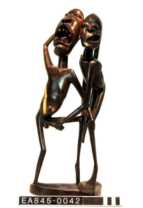 makonde, love, sex, tanzania, figure, moesgaard museum, de etnografiske samlinger, ethnography, collections, museum, aarhus, denmark