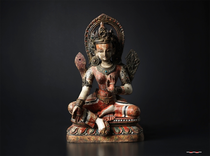 green tara, nepal, buddhism, collections, moesgaard, anthropology, archaeology