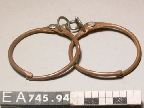 handcuffs, cuba, summer, vacation, moesgaard museum, anthropology, ethnography