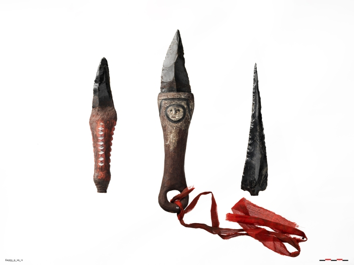moesgaard museum, manus, papua new guinea, game of thrones, obsidian, dragonglass, knives, knife