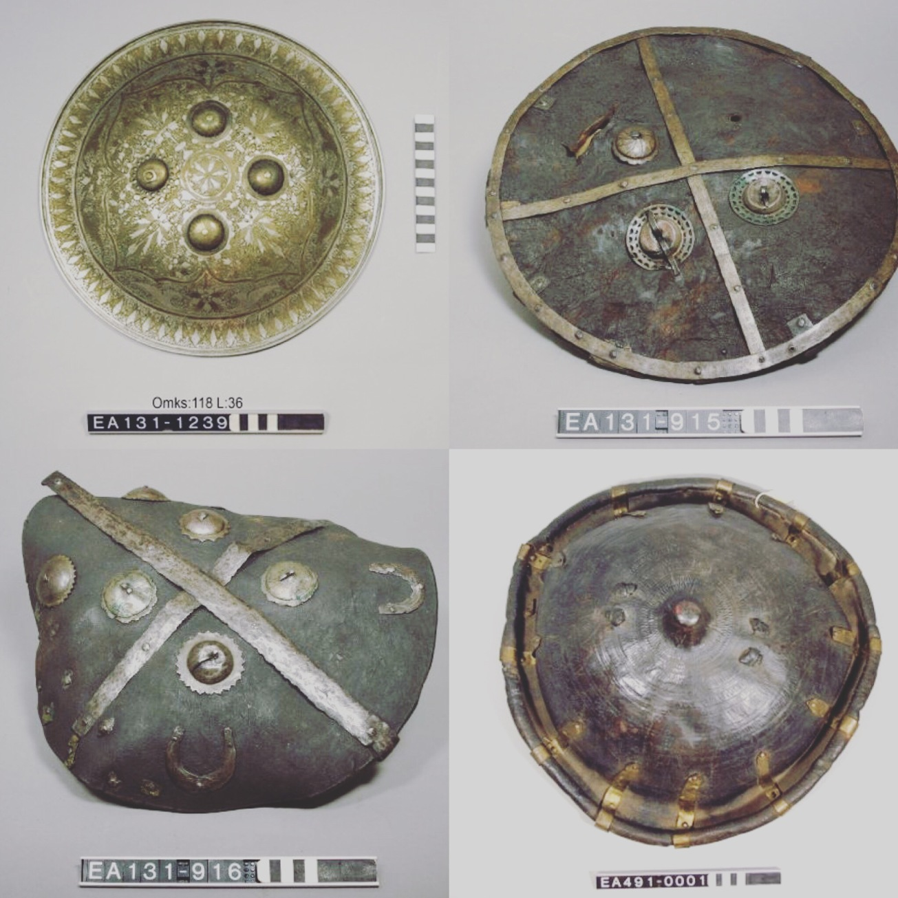 vikings, shields, battle, fight, moesgaard museum, afghanistan, collections, anthropology, ethnography