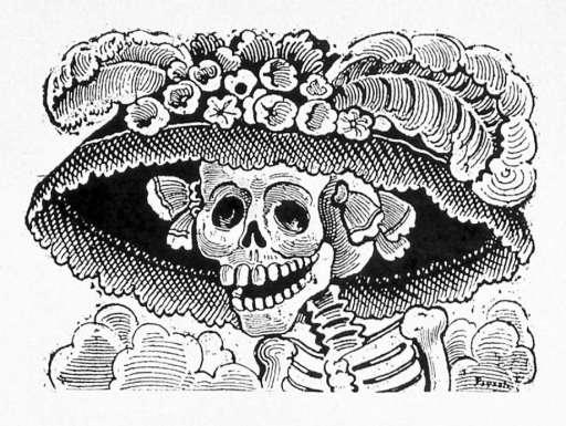 Day of the dead, dia de muertos, la catrina, aztec, Mexico, Moesgaard Museum, momu, collections, death, underworld, skeleton, skull, Mictēcacihuātl