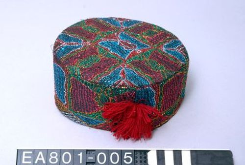Hat, afghanistan, uzbek, lottery, fashion, embroydery, moesgaard museum, aarhus, ethnography, Denmark, anthropology, scarf, pattern