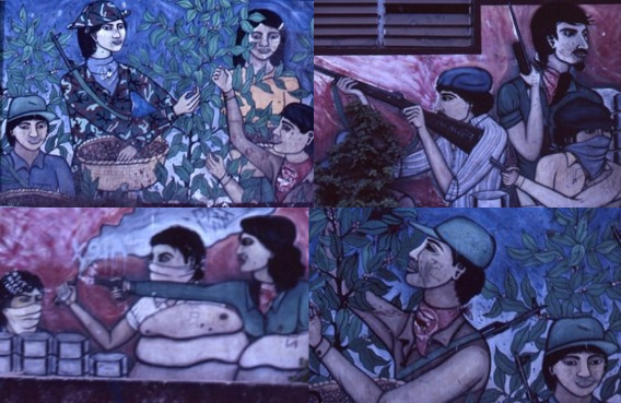 Nicaragua, war, revolution, art, murals, paint, photography, mogens stryhn, moesgaard museum, ethnography, collections, camera, ethnography