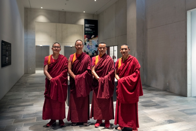 mandala, sand mandala, monk, lama, Nepal, Tibet, Buddhism, moesgaard museum, momu, anthropology, ethnogaphy, collections, performance, cultural heritage, heritage, buddha